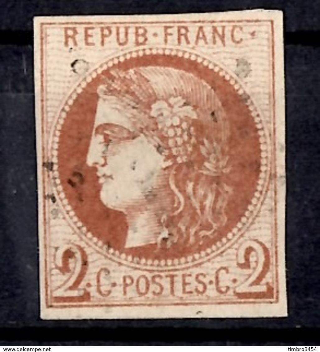 France Bordeaux YT N° 40B Oblitéré. Superbe Nuance. Signé Calves. Premier Choix. A Saisir! - 1870 Bordeaux Printing