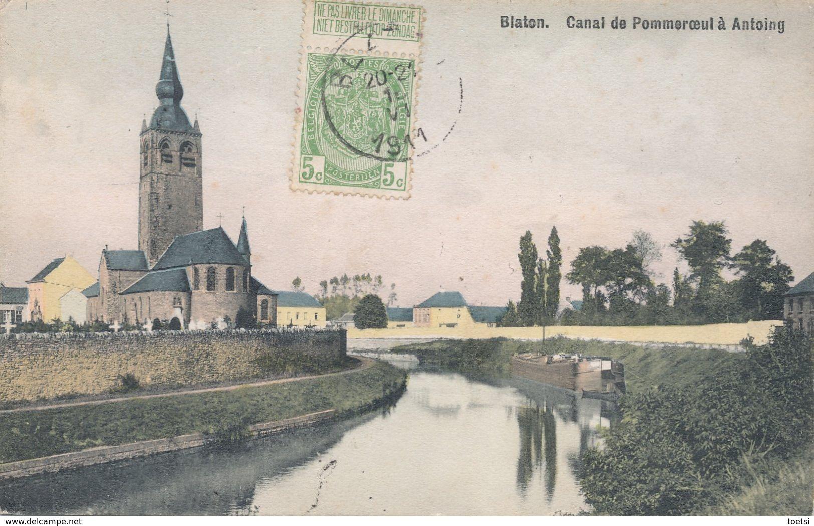 BLATON   CANAL  ANTOING  POMMEROEUL - Belgium