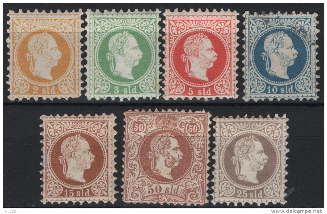 Austria Levante 1867/75 Unif.1/7 */**/OMH/MNH/Used VF/F - Oriente Austriaco