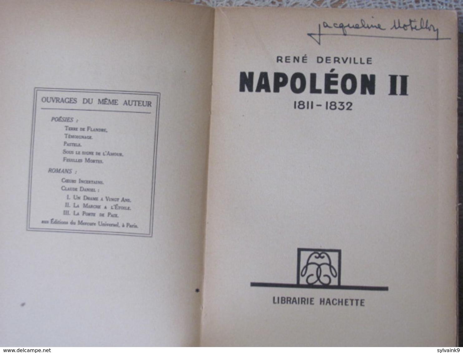1934 Rene Derville Napoleon II Le Roi De Rome François Joseph Charles Bonaparte 2 Empereur Des Francais Parme - Livres, BD, Revues