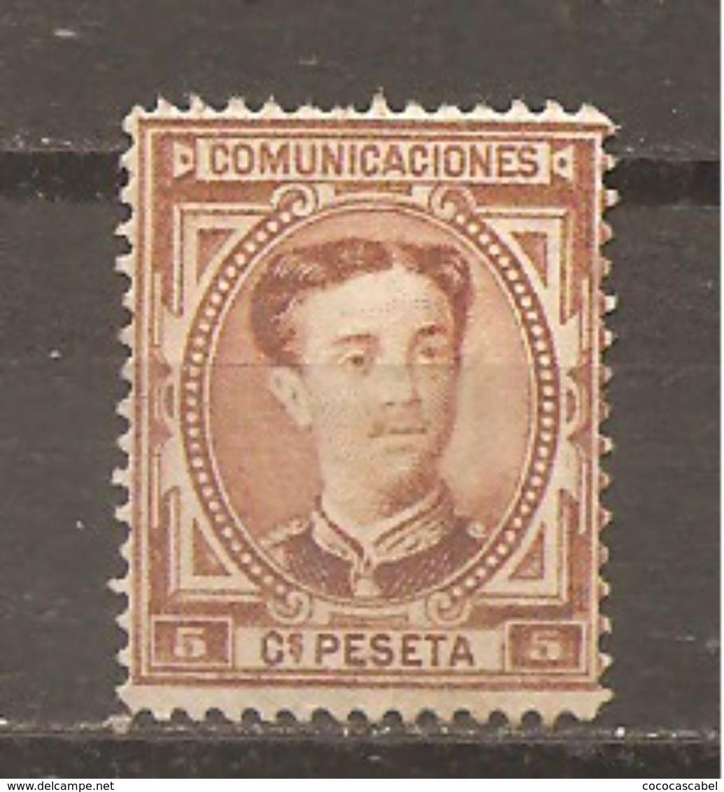 España/Spain-(MH/(*)) - Edifil  174 - Yvert  163 (sin Goma) - 1875-1882 Reino: Alfonso XII