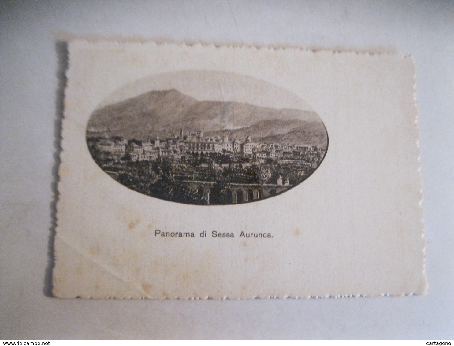 SESSA AURUNCA Panorama  Cartolina F/G Bianco E Nero   Viaggiata 1942 Francobollo Asportato - Italia