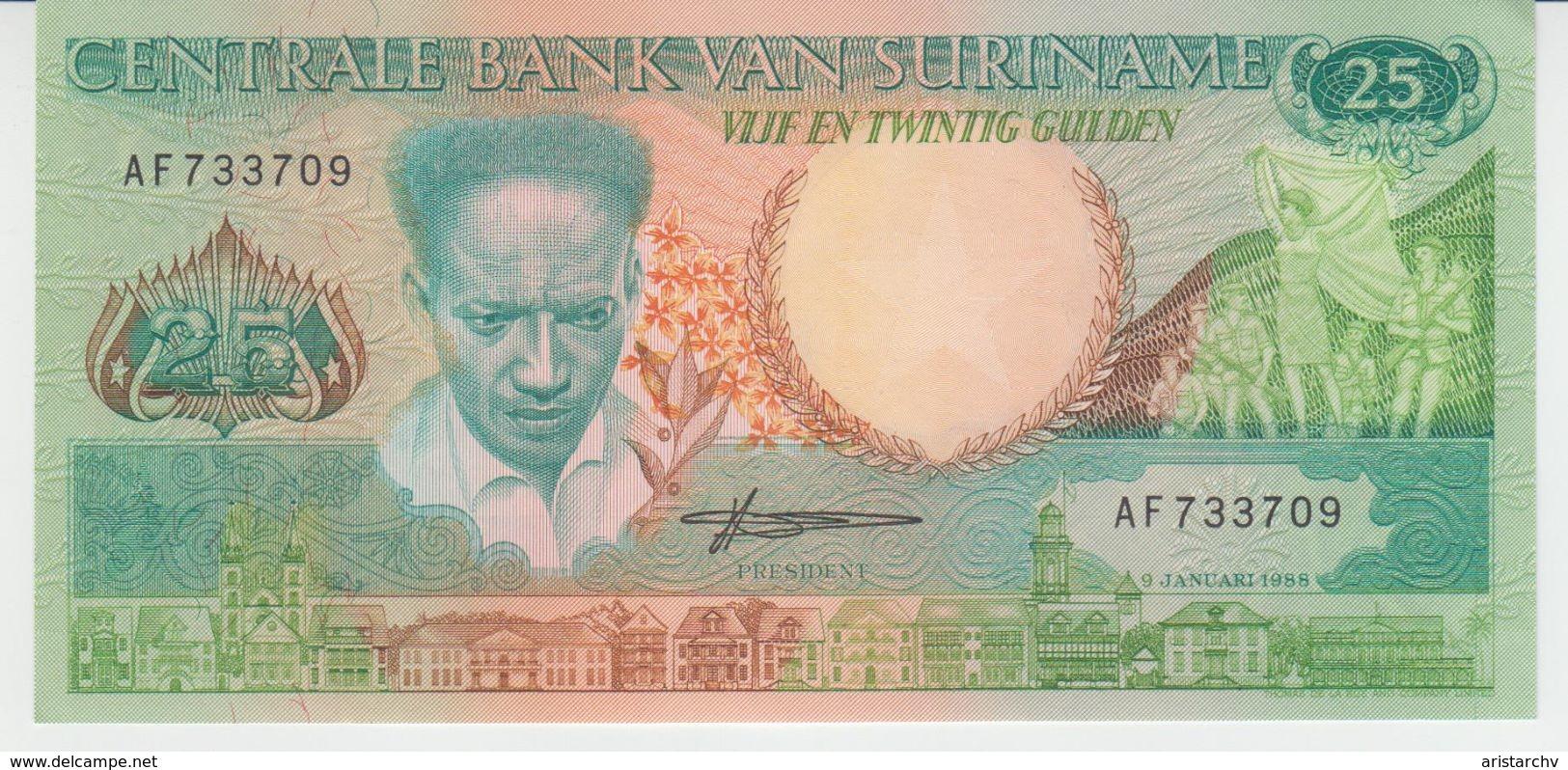 SURINAME 1988 25 GULDENS NOT CIRCULATED - Surinam