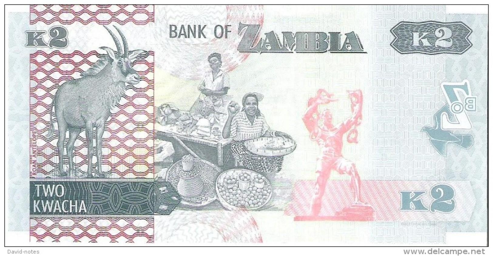 Zambia - Pick 56 - 2 Kwacha 2015 - Unc - Zambie