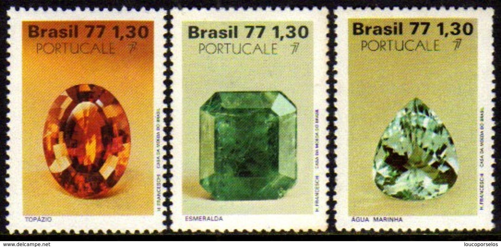 Brasil C 1016/18 Pedras Preciosas Portugale 1977 NNN - Brazil
