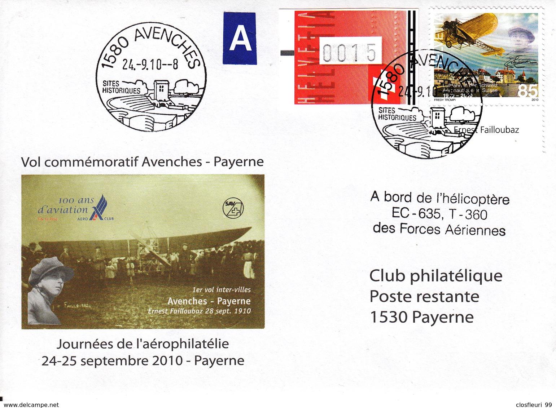 Ernest Failloubaz, Pionier Der Luftfahrt / Numeriert 0718/1200, Mit Stabs - Airmail