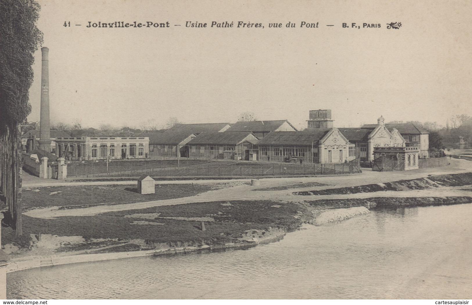 JOINVILLE LE PONT : Usine Pathé Frères, Vue Du Pont - Joinville Le Pont