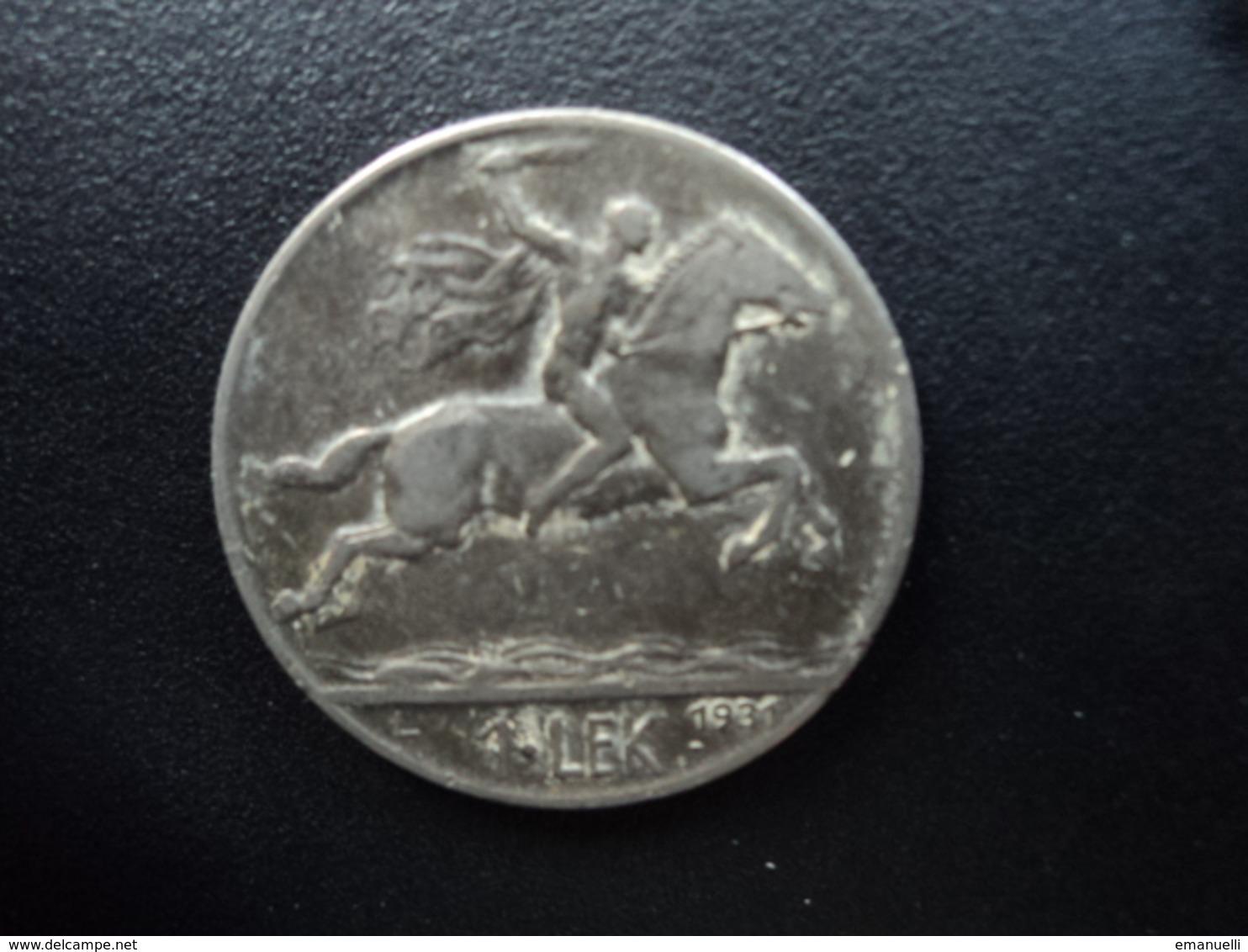 ALBANIE : 1 LEK  1931 L   KM 5    TTB - Albanie