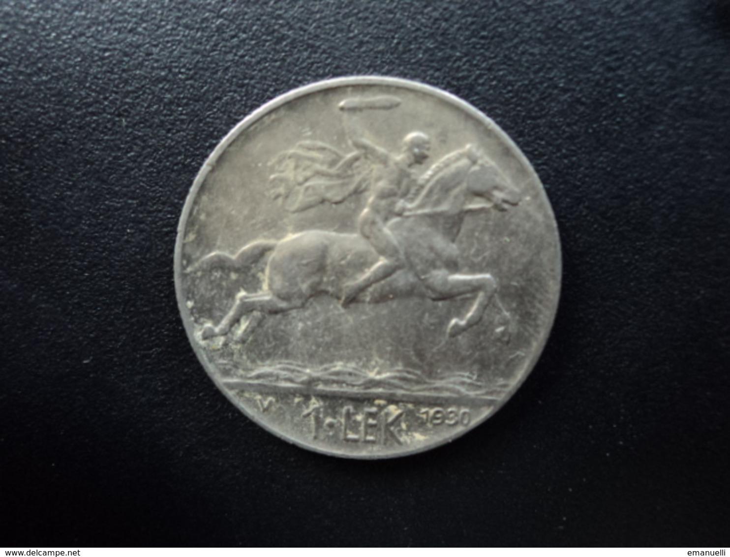 ALBANIE : 1 LEK  1930 V  KM 5   SUP - Albanie