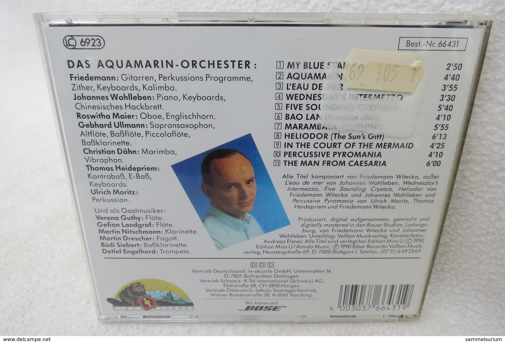 "CD ""Friedemann"" Aquamarin, Biber Records - Sonstige"