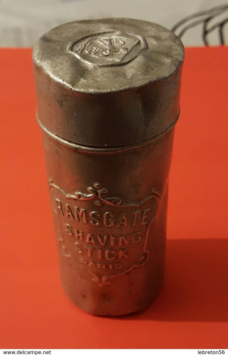 """Boite Metal :"""" RAMSGATE SHAVING STICK PARIS"""" Savon à Barbe ( Très Ancienne) - Boîtes"""