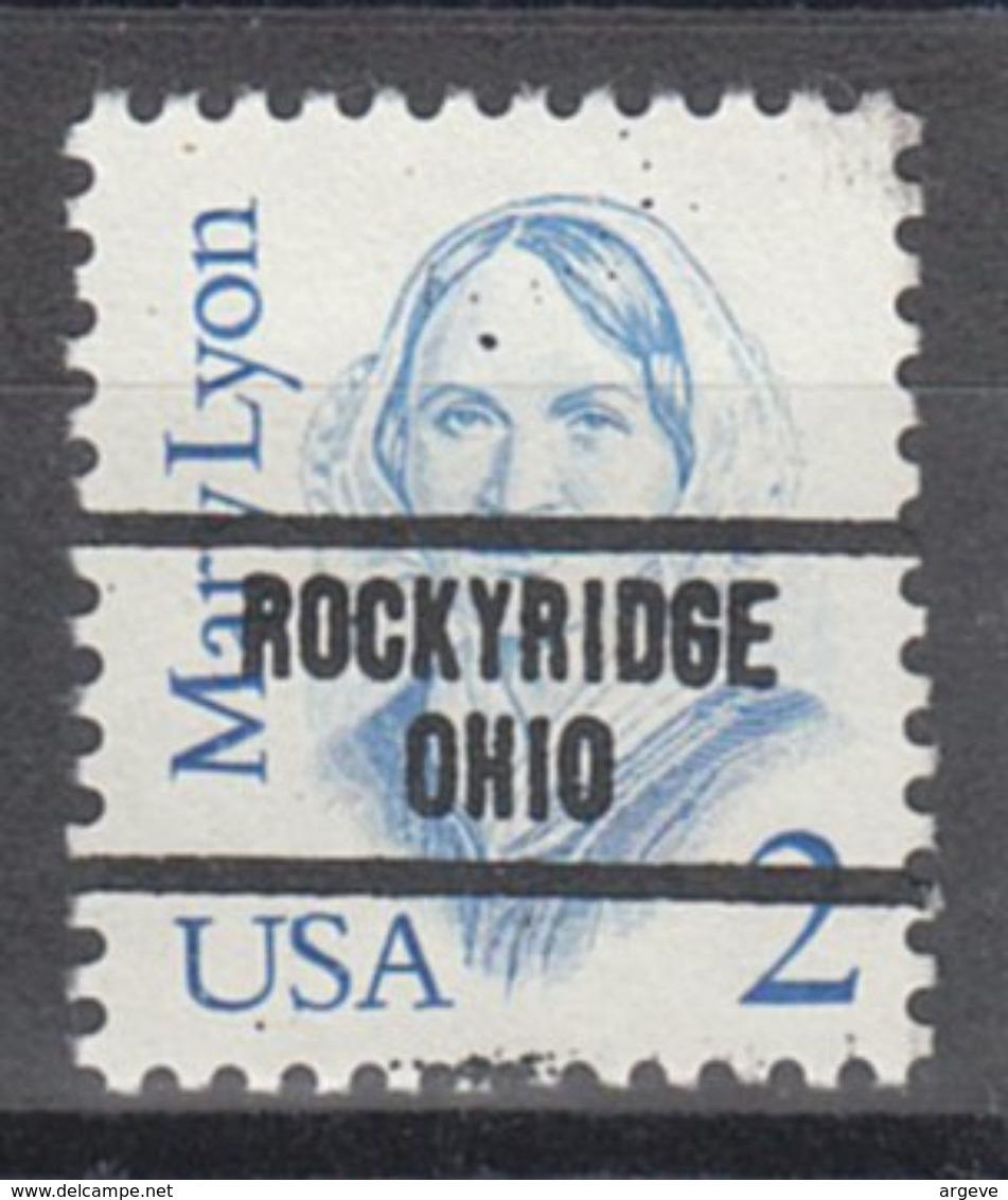 USA Precancel Vorausentwertung Preo, Locals Ohio, Rockyridge 734 - Vereinigte Staaten