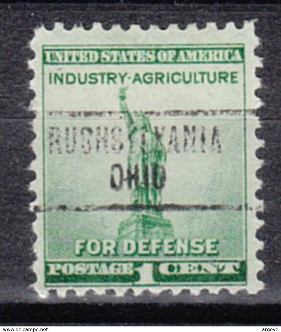 USA Precancel Vorausentwertung Preo, Locals Ohio, Rushsylvania 734 - Vereinigte Staaten