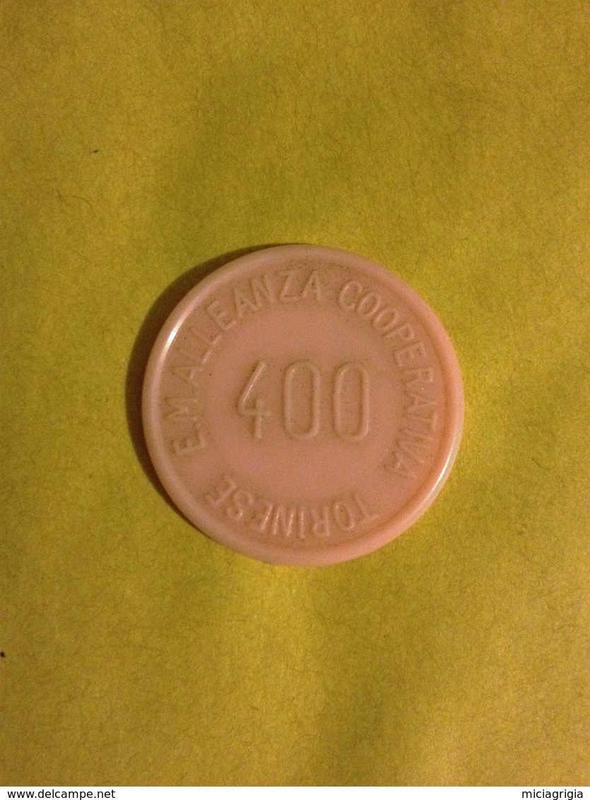 TOKEN JETON GETTONE SUPERMERCATO COOPERATIVA TORINESE 400 LIRE SPECIALITA' AMARO A.C.T. - Monétaires/De Nécessité