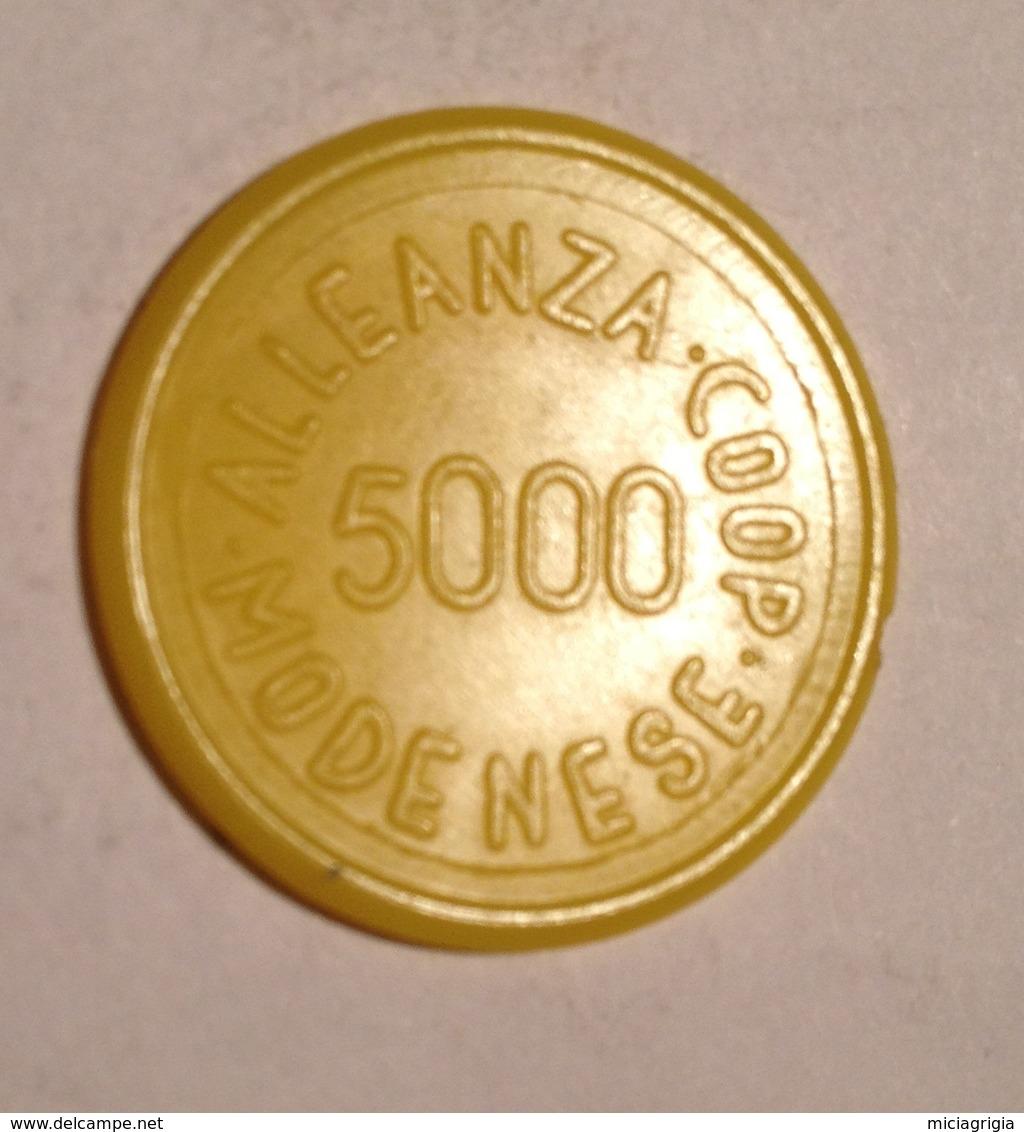 TOKEN JETON GETTONE SUPERMERCATO COOPERATIVA MODENESE 5000 LIRE COOP - Monetari/ Di Necessità