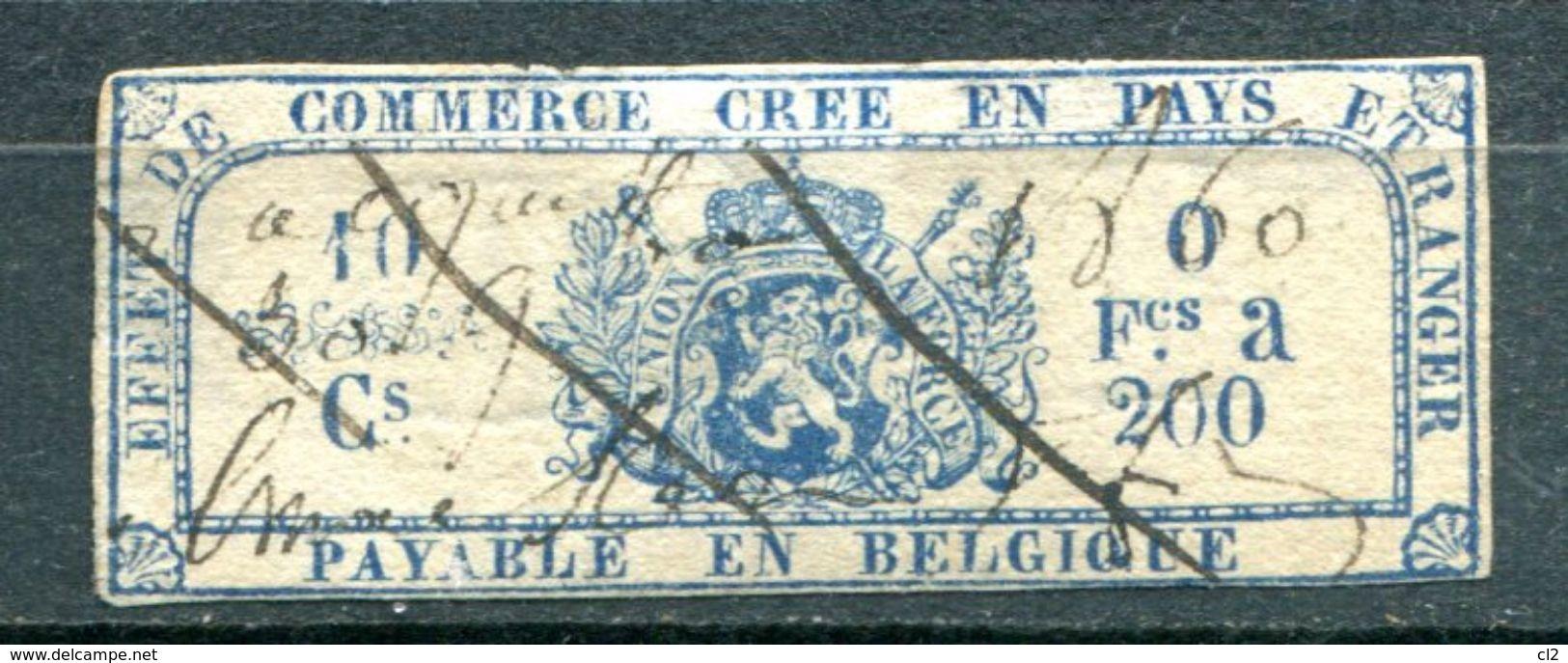 BELGIQUE - Fiscaux - Effet De Commerce Annulé En 1860 - Stamps