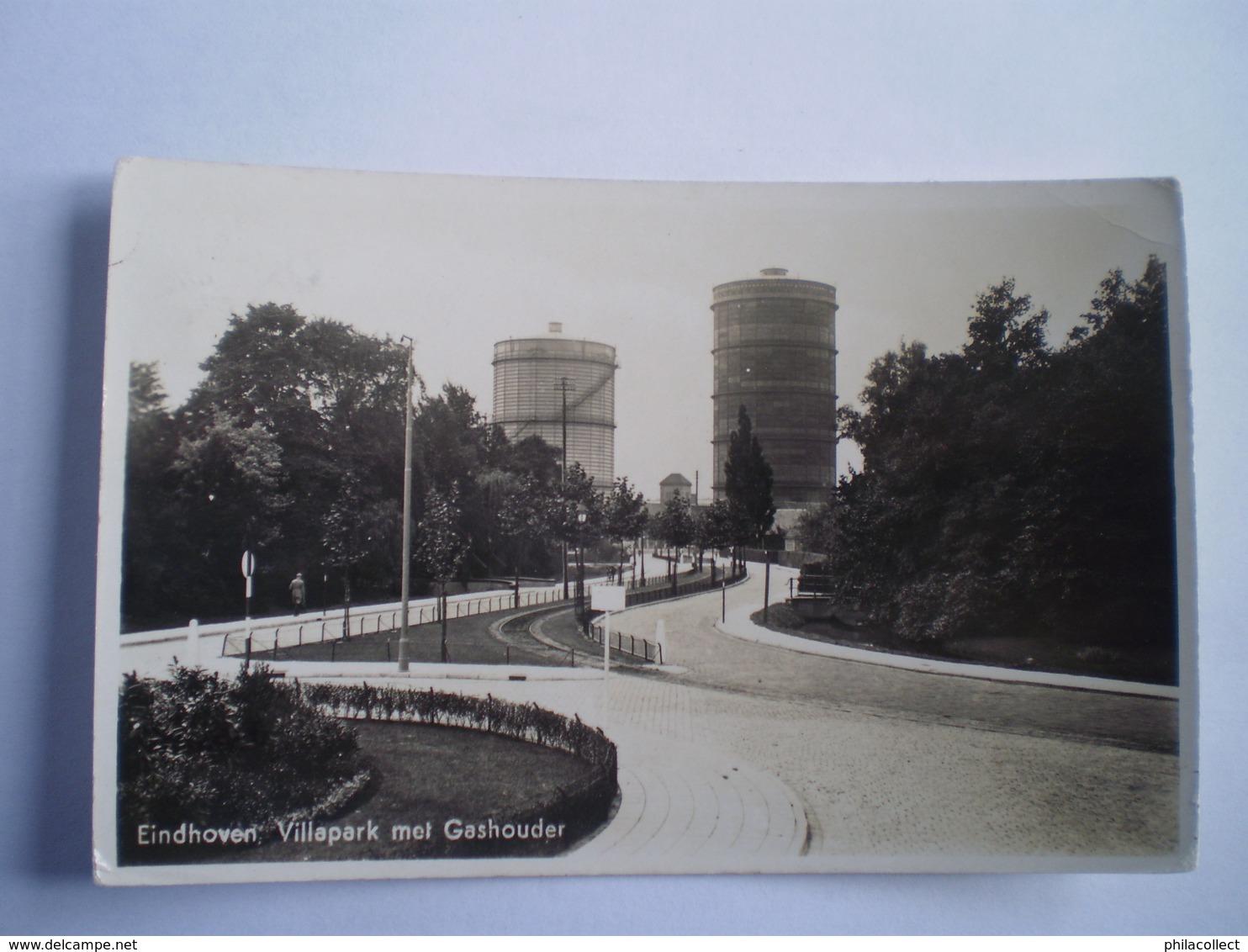 Eindhoven // Villapark Met Gashouder // Gelopen 193? Zegelverwijderd (staat Text Onder Zegel) - Eindhoven