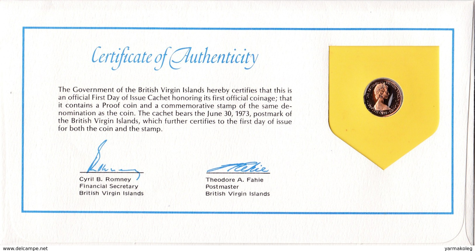 British Virgin Islands 1 Cent 1973 - British Virgin Islands