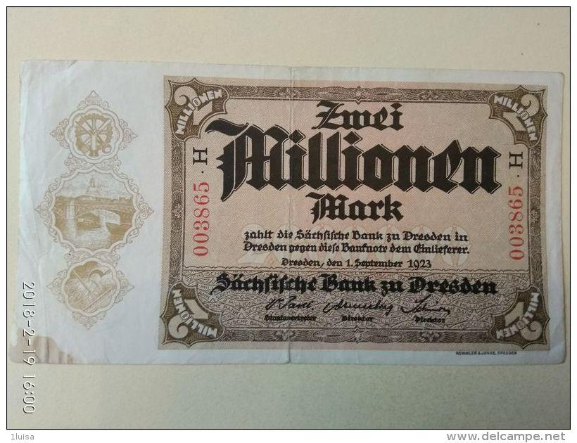 Dresden 2 Milioni Mark 1923 - [11] Emissioni Locali