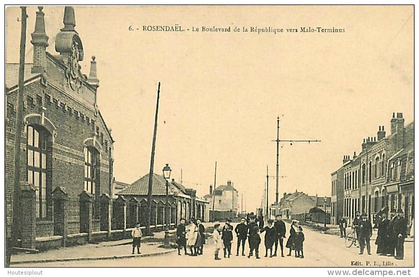 Rosendael. Le Boulevard De La République Vers Malo-Terminus - France
