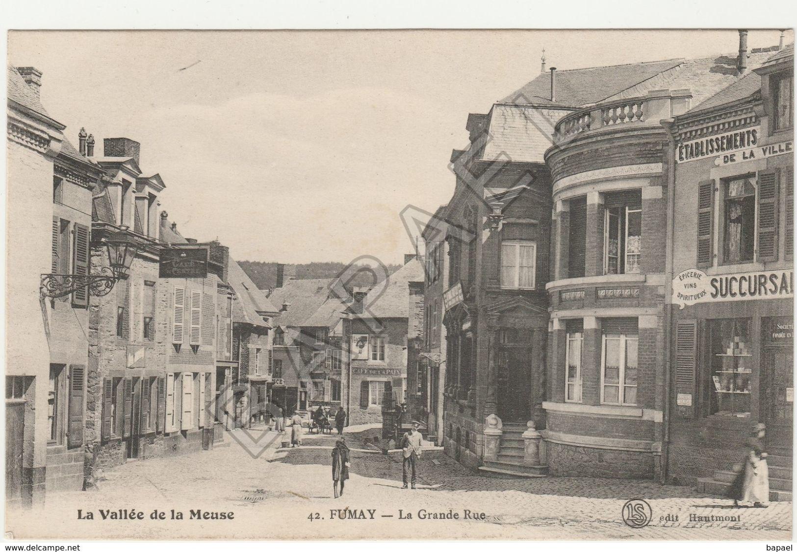 Fumay (08) - La Grande Rue (Circulé En 1919) - Fumay