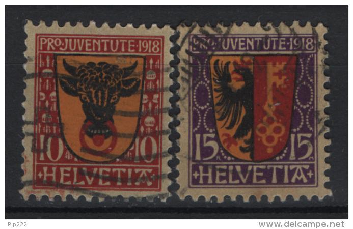 Svizzera  1918 Unif. 168/69 O/Used VF/F - Pro Juventute
