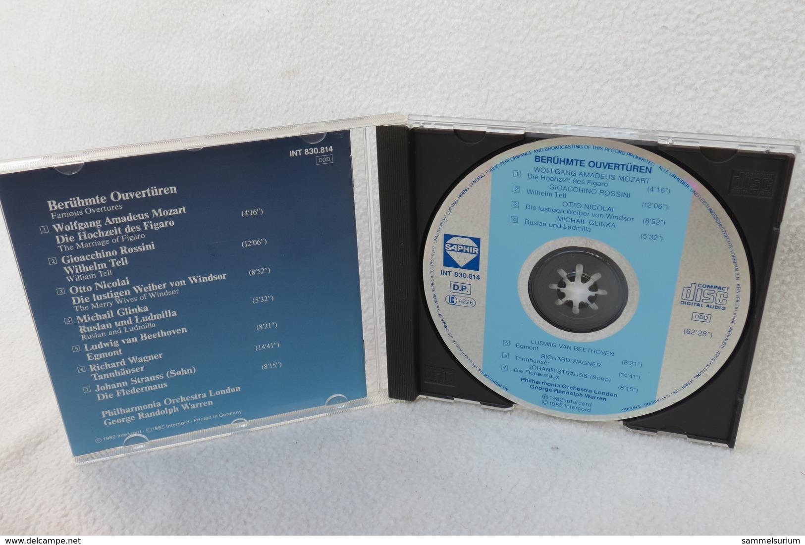 "CD ""Berühmte Ouvertüren"" Mozart, Rossini, Nicolai, Glinka, Beethoven Etc. - Klassik"