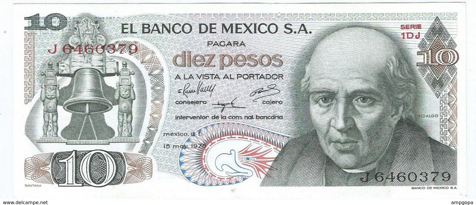 Mexico 10 Pesos 15-5-1975 Pick 63.h.1 Ref 1542 - México