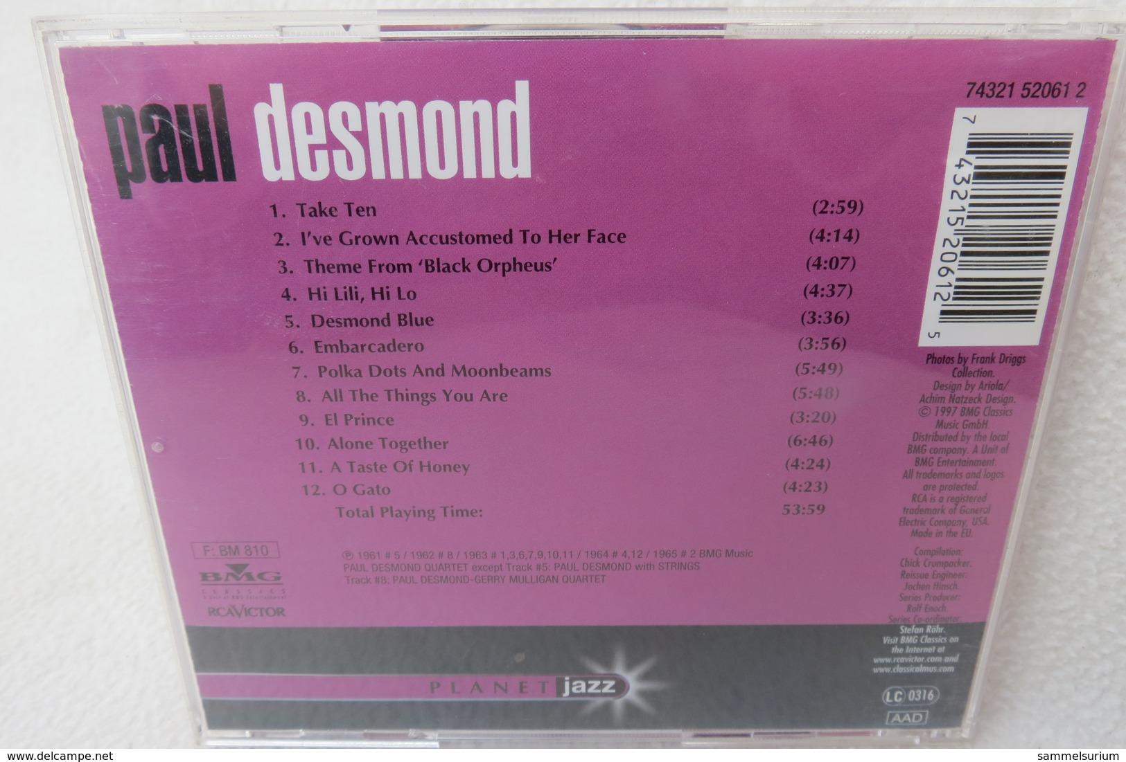"CD ""Paul Desmond"" Planet Jazz - Jazz"