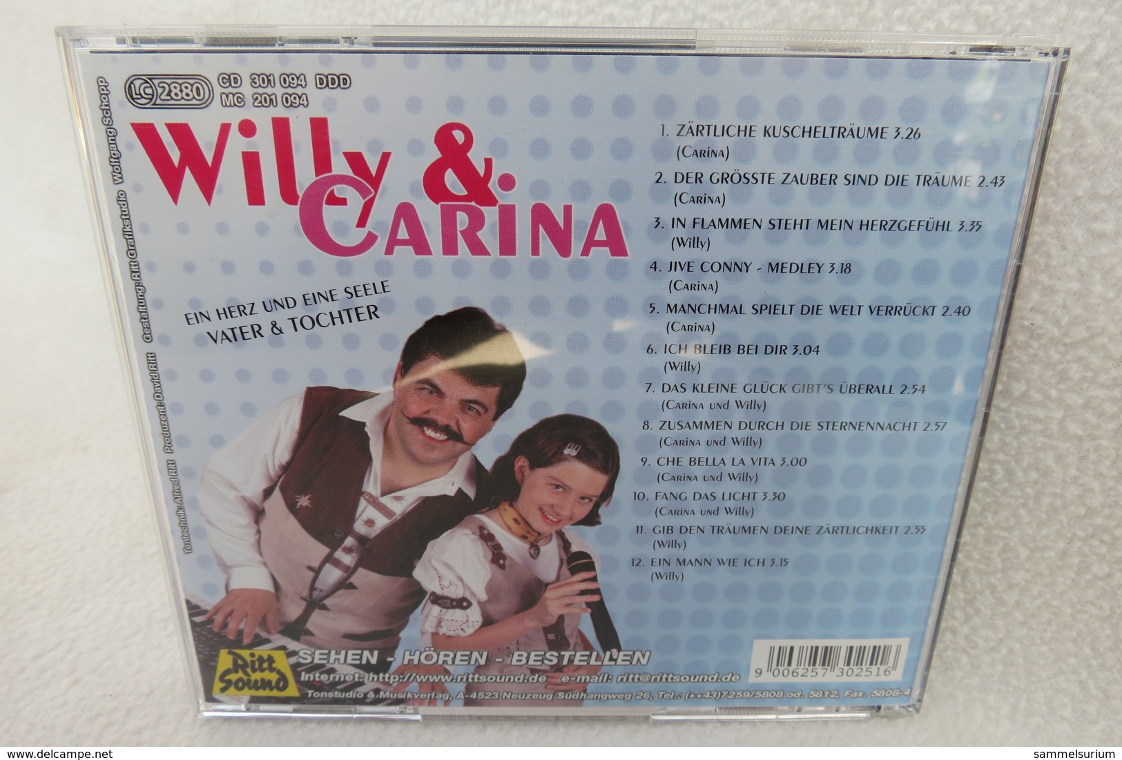 """CD """"Willy & Carina"""" Zärtliche Kuschelträume - Sonstige - Deutsche Musik"""