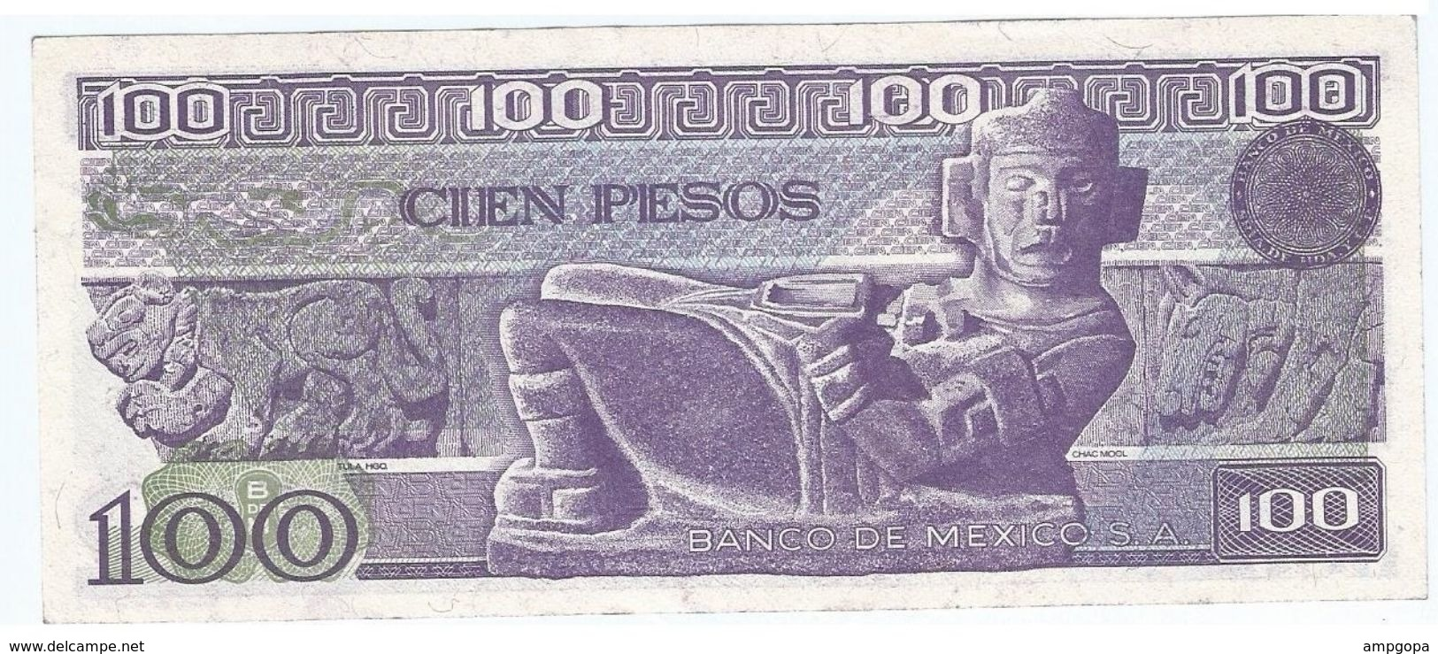 Mexico 100 Pesos 25-3-1982 Pick 74.c Serie VD UNC - Mexico