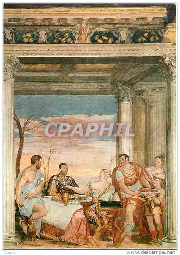 CPM Thiene (Vicenza) Castello Porto Colleoni Thiene Antony At Cleopatra's Banquet - Vicenza