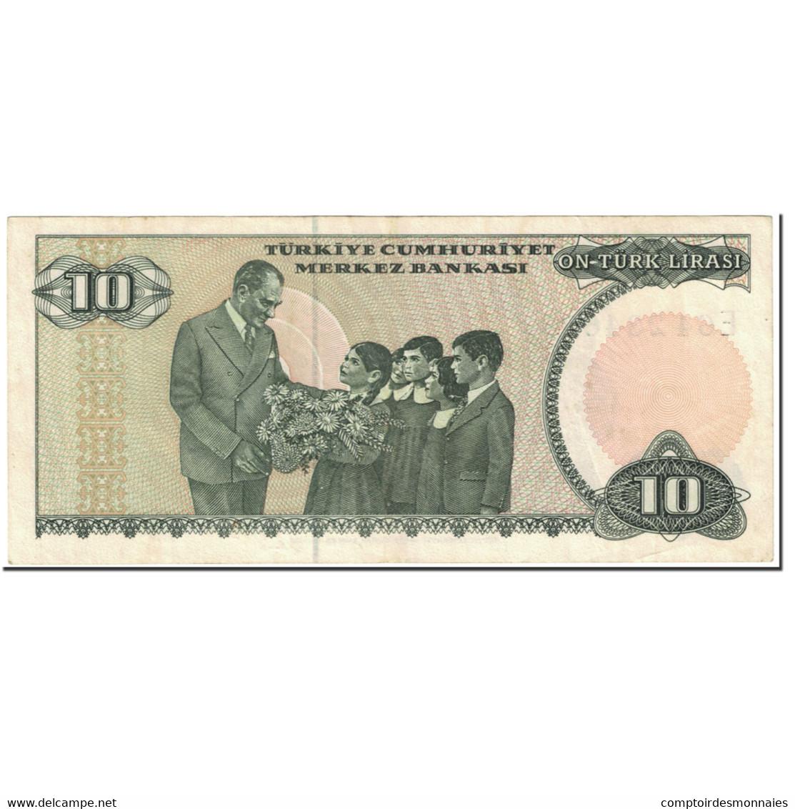 Billet, Turquie, 10 Lira, 1987, Old Date 1970-10-14, KM:193a, SUP+ - Turkey