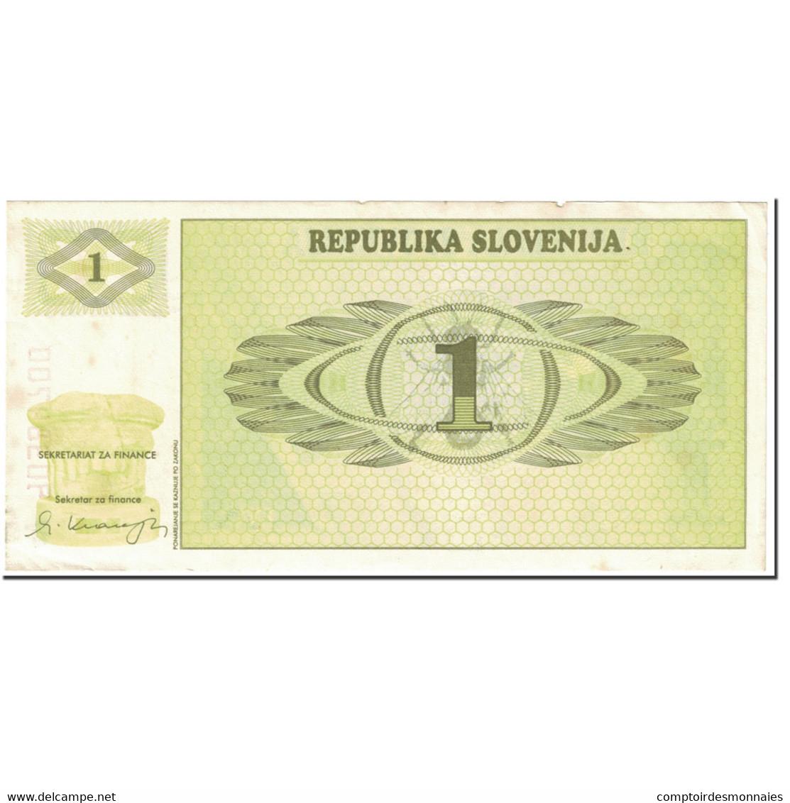 Billet, Slovénie, 1 (Tolar), 1990, UNdated (1990), KM:1a, TTB - Slovénie