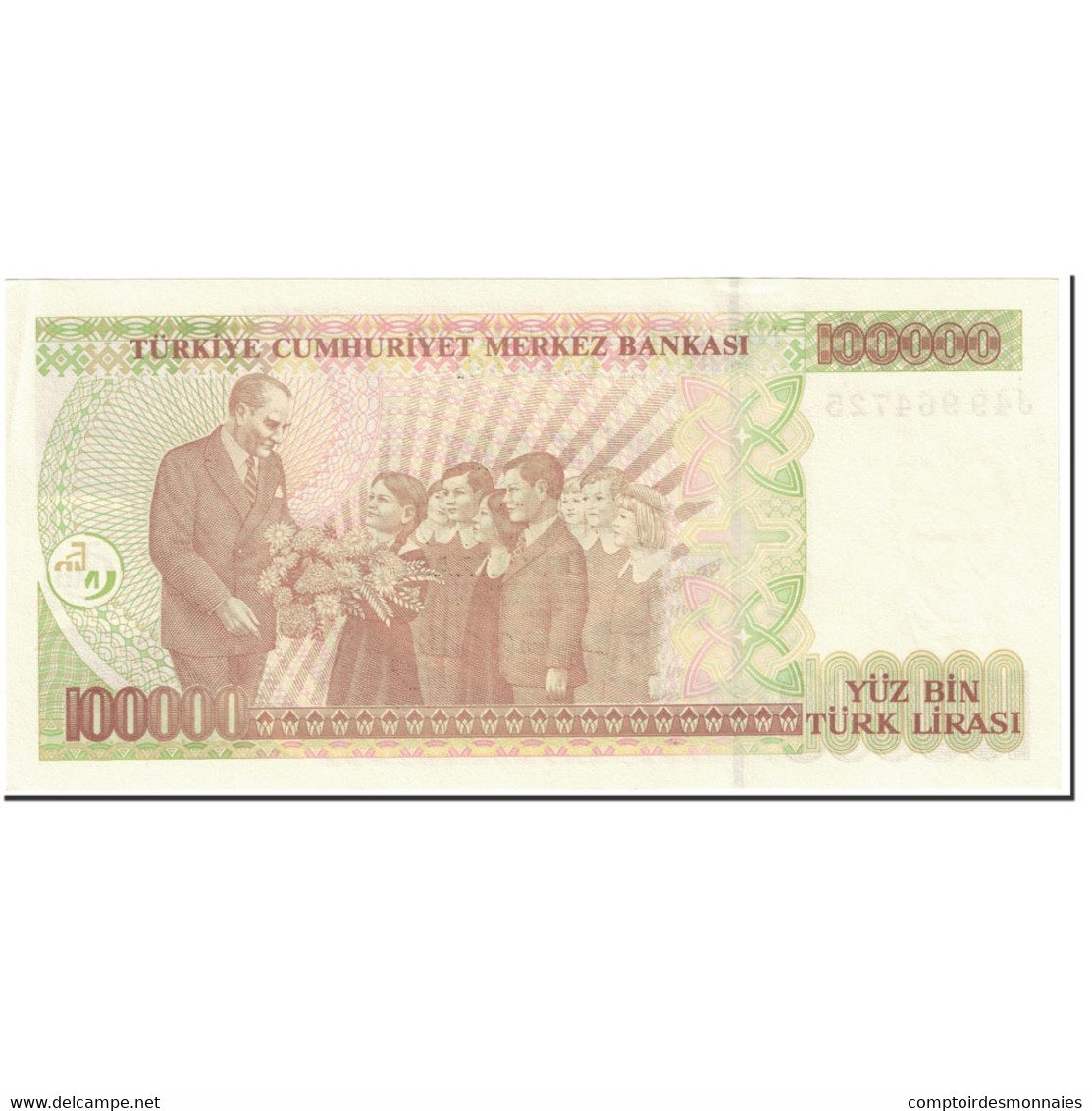 Billet, Turquie, 100,000 Lira, 2001, Old Date 1970-10-14, KM:206, NEUF - Türkei
