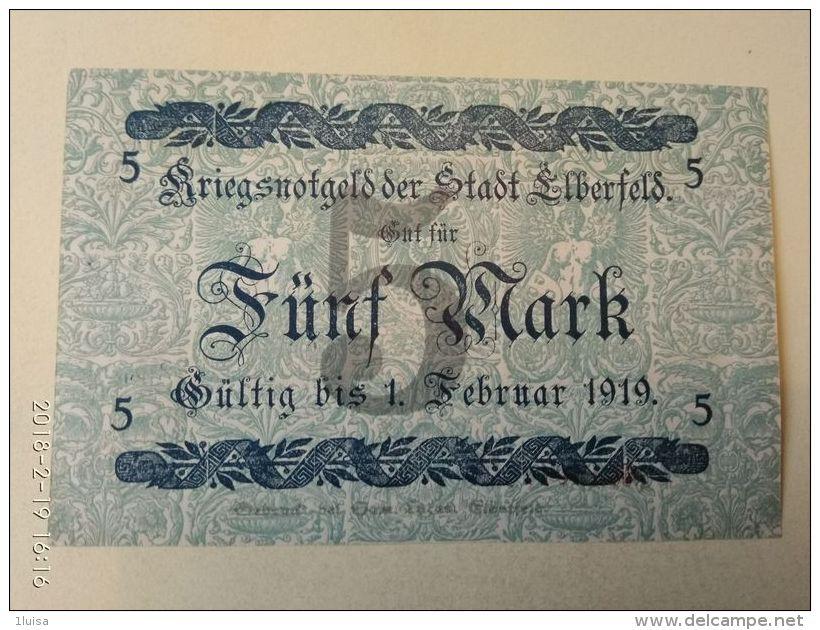 Elberfeld 5 Mark 1918 - [11] Emissioni Locali