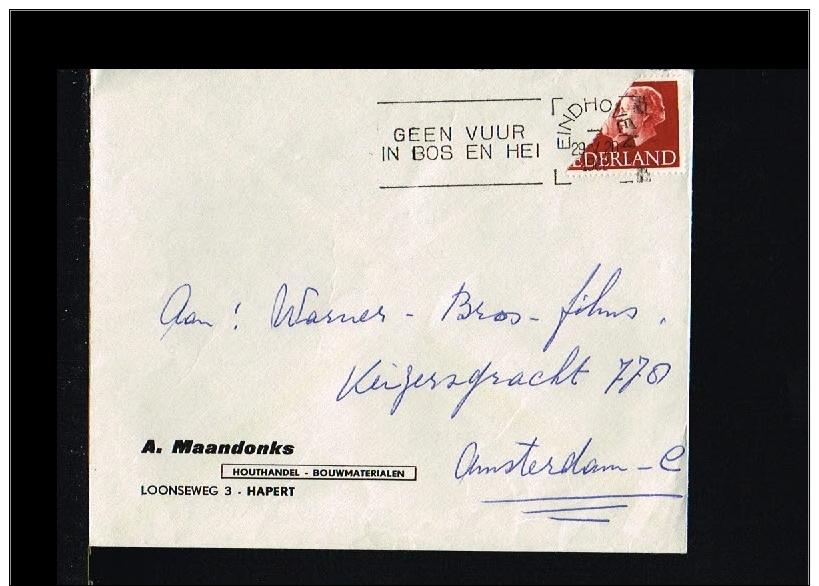 1962 - Netherlands Cover - 12ct Stamp Cut In Half [A79_001] - Variétés Et Curiosités