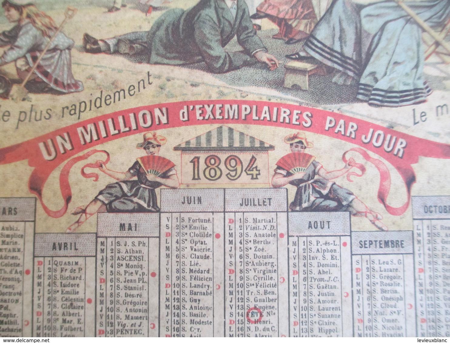 PRESSE/ Calendrier Mural / Le Petit Journal/ Un Million D'exemplaires Par Jour/Jobard Dijon  /1894           CAL385 - Calendari