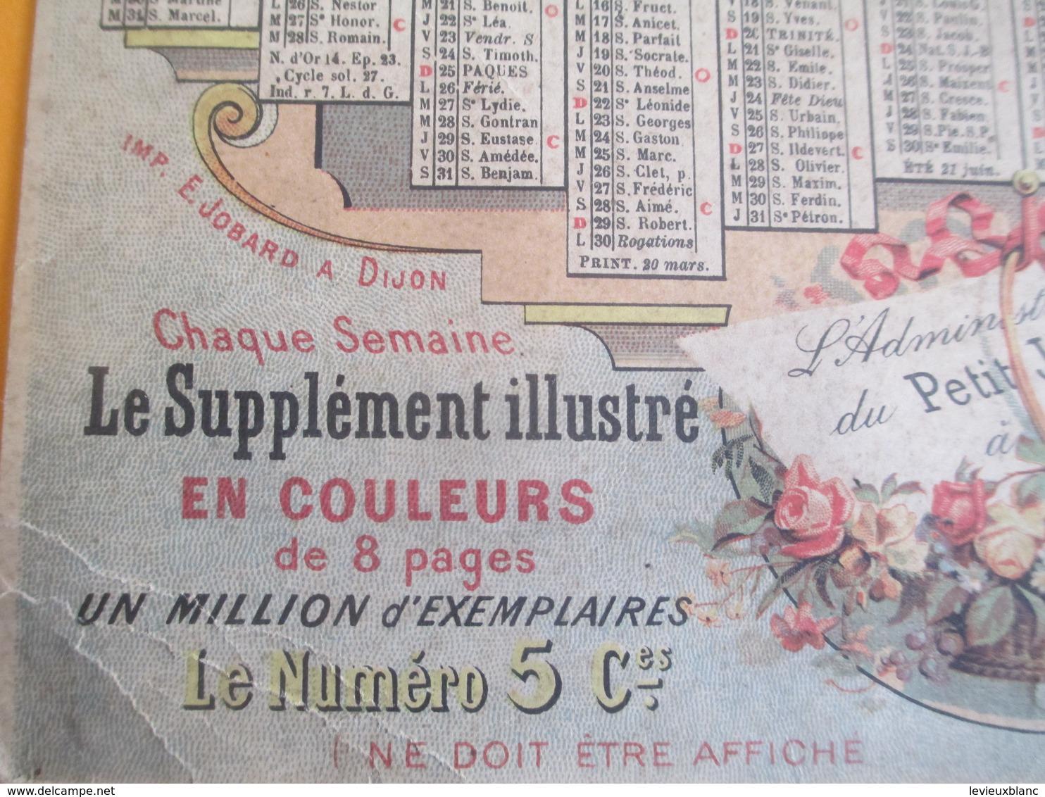 PRESSE/ Calendrier Mural / Le Petit Journal/ Un Million D'exemplaires Par Jour/Jobard Dijon  /1894           CAL385 - Formato Grande : ...-1900