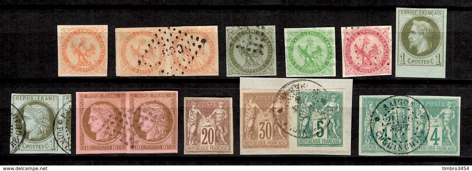 Colonies Générales Belle Petite Collection 1859/1875. Bonnes Valeurs. B/TB. A Saisir! - Napoleon III