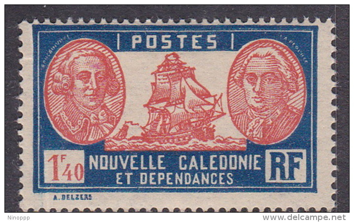 New Caledonia SG 167 1928 Definitives 1 F 40c Red And Blue MNH - New Caledonia