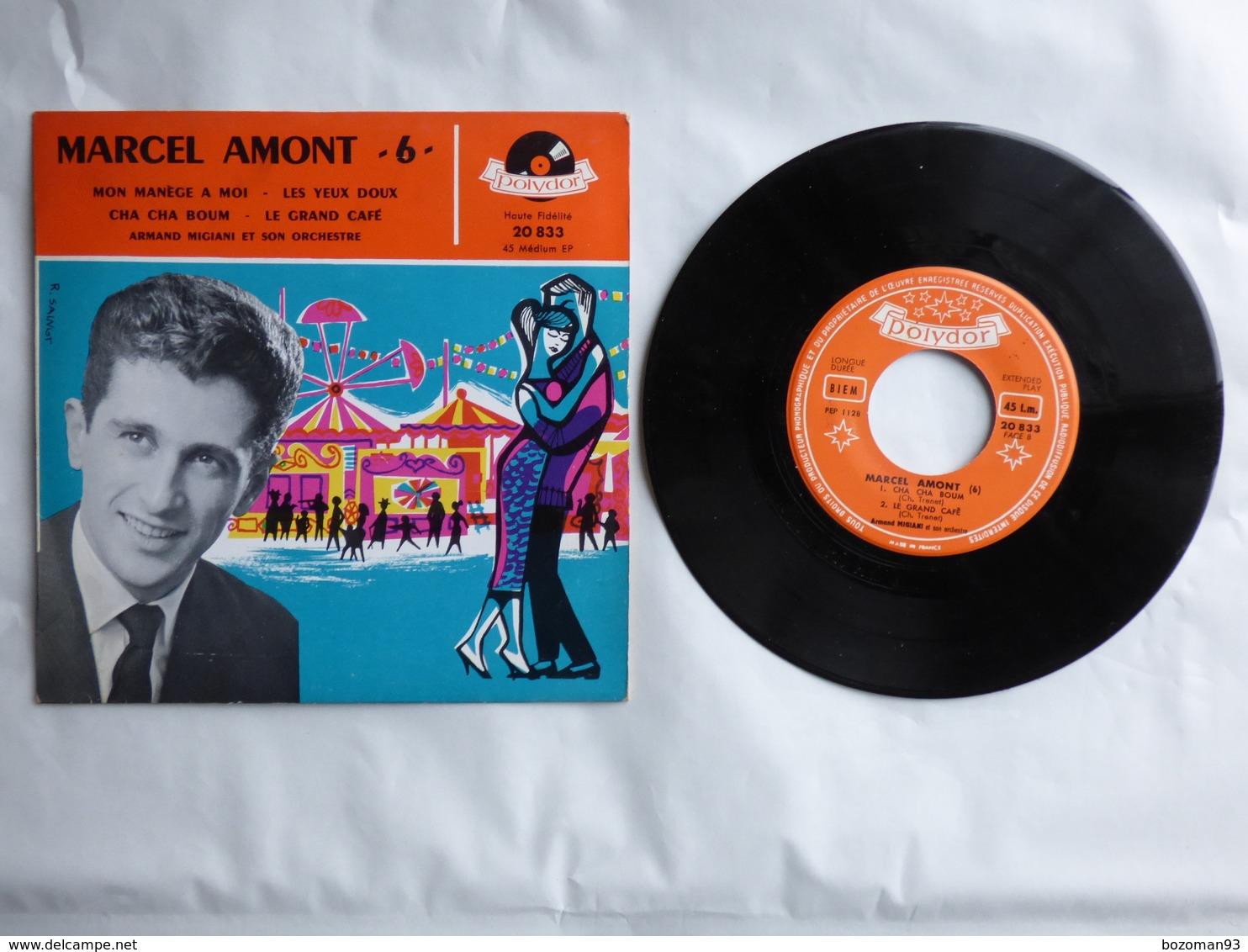 EP 45T MARCEL AMONT  LABEL POLYDOR 20.833  MON MANEGE A MOI - LE GRAND CAFE - Disco, Pop