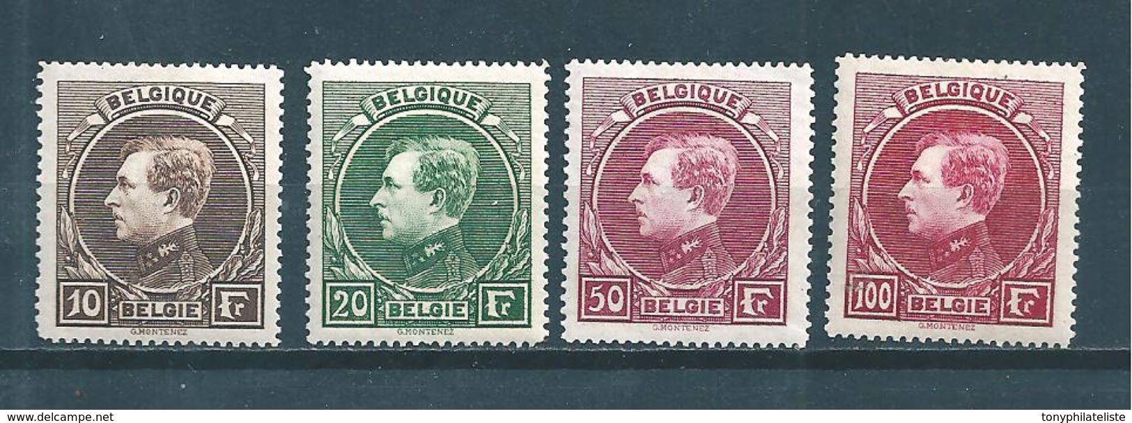 Belgique  Timbres De 1929/32  N°289 A 292 Neufs Petite Trace De Charnière (cote 220€) - Belgien