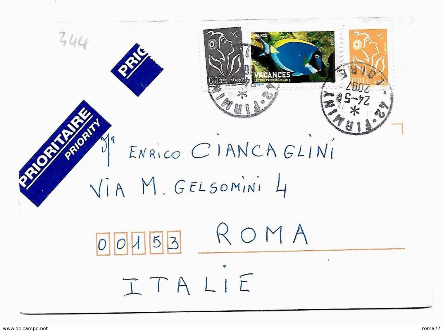 EDB344 - FRANCIA , Lettera Viaggiata  Il  2005 - Storia Postale