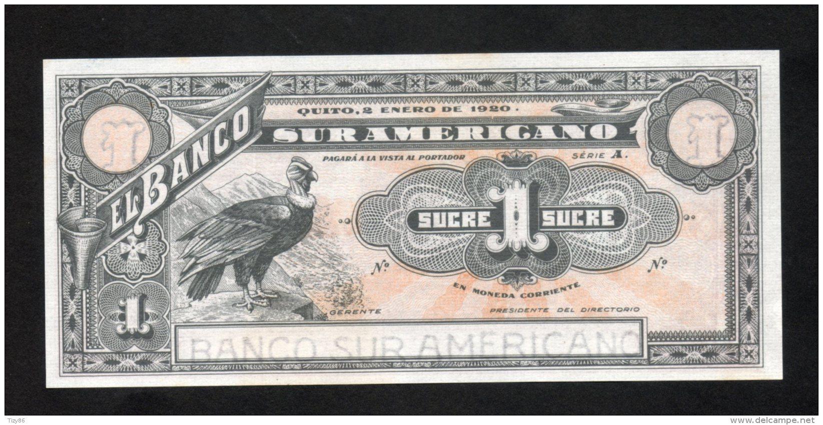 Banconota Ecuador 1 Sucre 1920 (FDS/UNC) - Ecuador