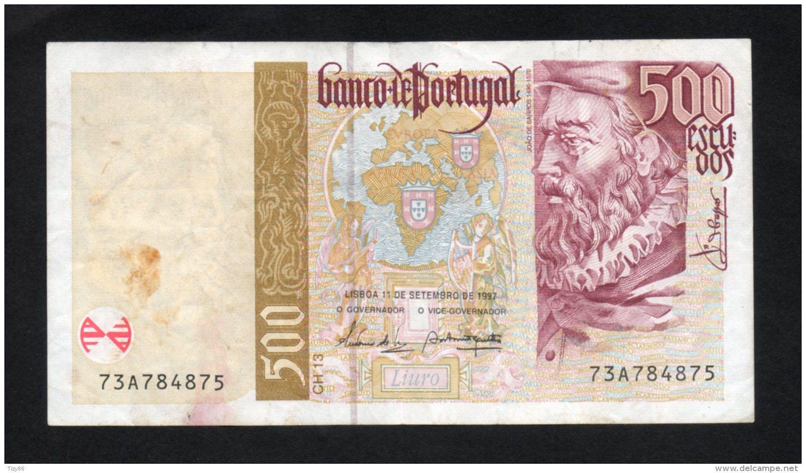 Banconota Portogallo 500 Scudi 1997 (circolata) - Portugal