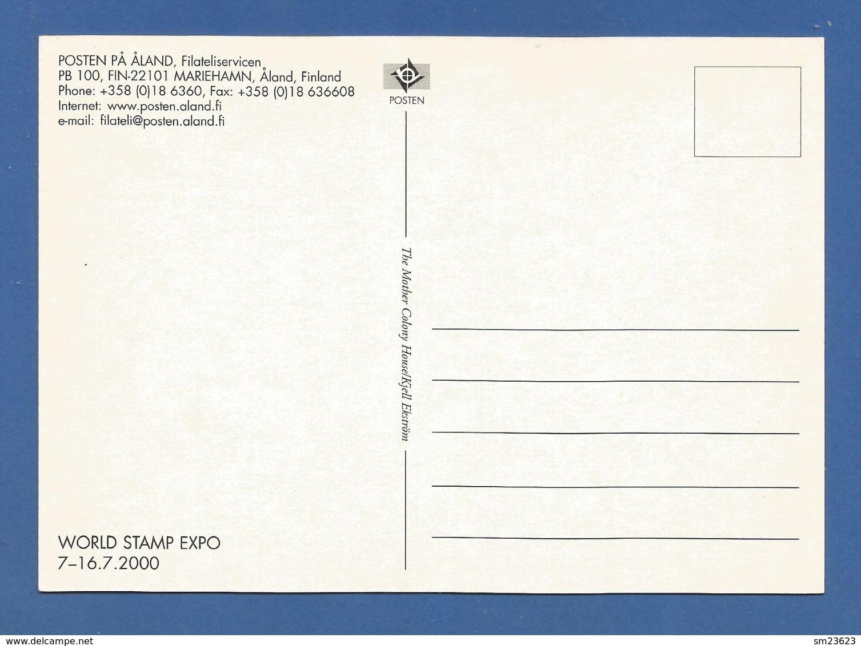 Finnland / Aland  2000 Mi.Nr. 175 , EUROPA CEPT - Kinder Bauen Einen Sternenturm - Maximum Karte - Anaheim 16.7. 2000 - - 2000