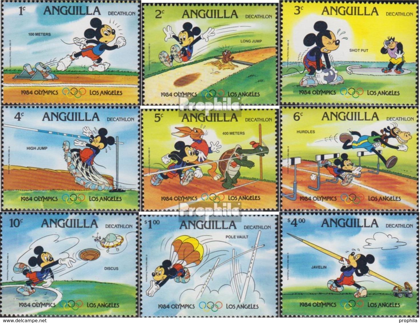 Anguilla Mi.-Nr.: 567C II-575C II (kompl.Ausg.) Postfrisch 1984 Walt-Disney-Figuren: Zehnkampf - Anguilla (1968-...)