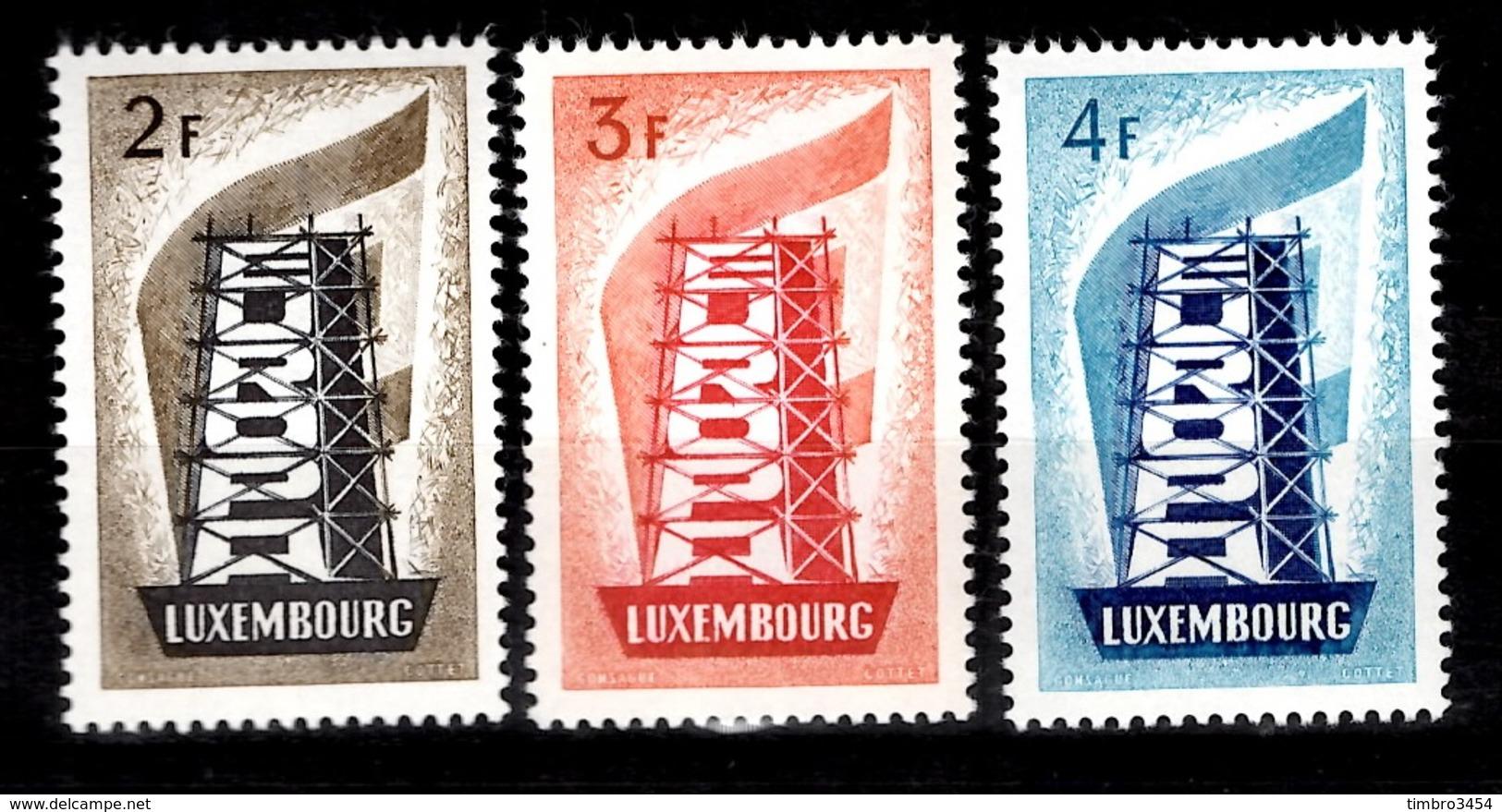 Luxembourg Europa 1956 YT N° 514/516 Neufs ** MNH. TB. A Saisir! - Luxembourg