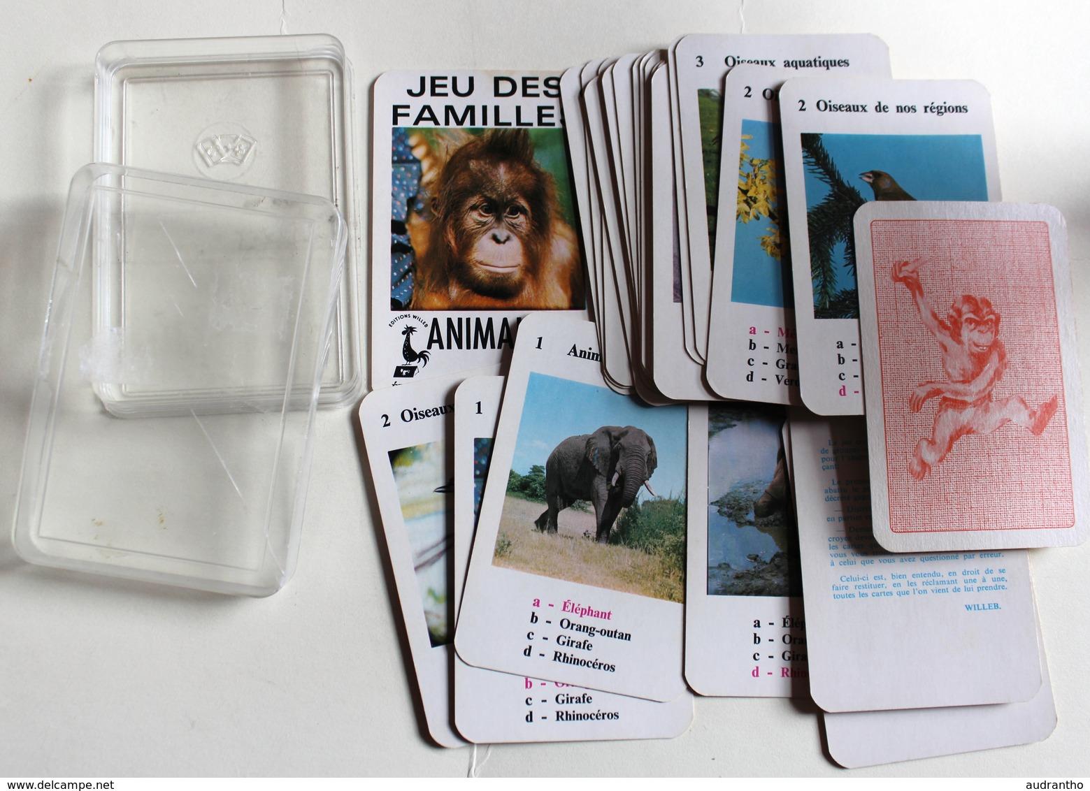 Ancien Jeu Des 7 Familles Les Animaux Marque WILLEB - Cartes à Jouer